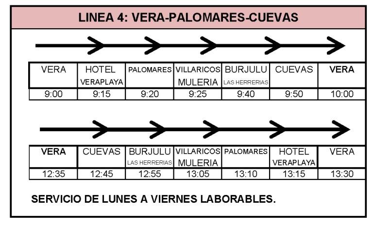 LINEA 4: VERA-PALOMARES-CUEVAS DEL ALMANZORA