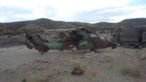 Imagen de material militar del rodaje.