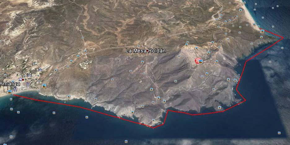 Ruta Agua amarga-Playa delos muertos